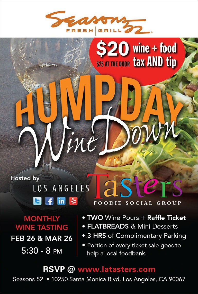LA Tasters Hump Day Wine Down