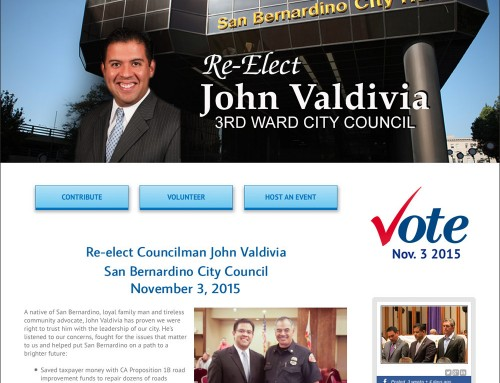 City Councilman Campaign Website