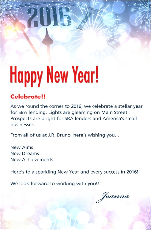 Happy New Year Email Message