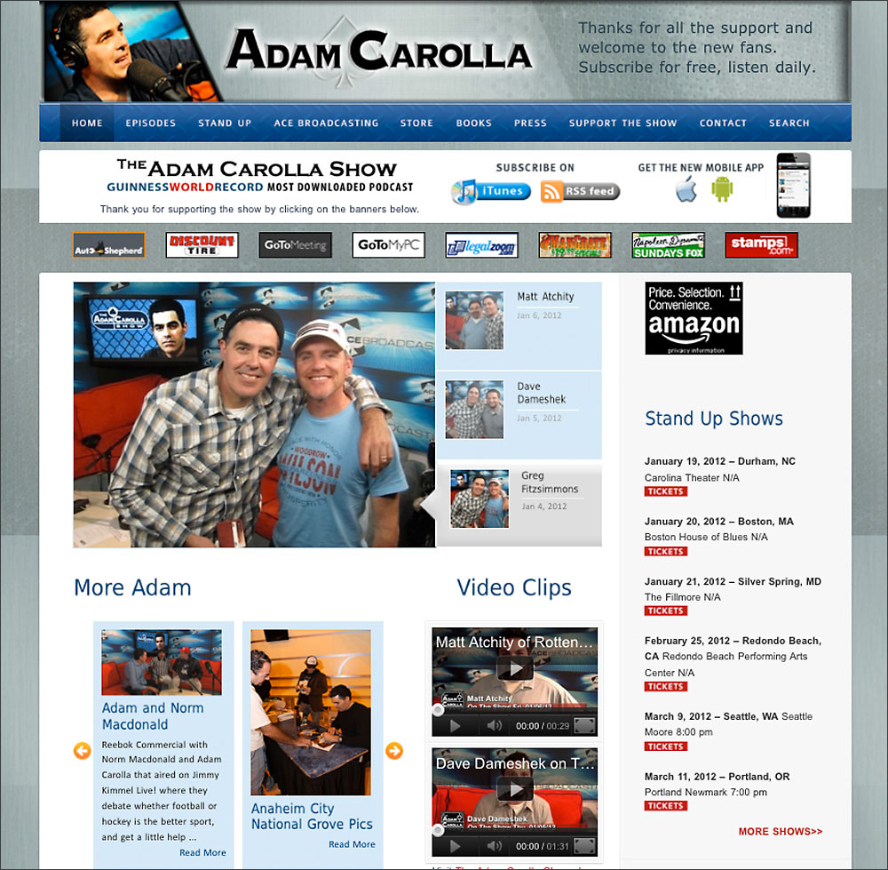 Adam Carolla Podcast