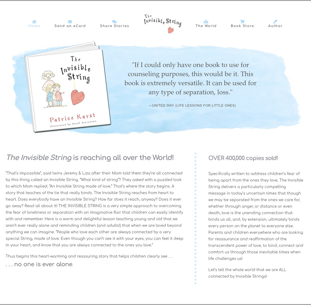 The Invisible String Book Website