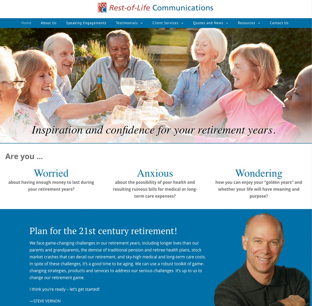 Rest of Life Communications Website