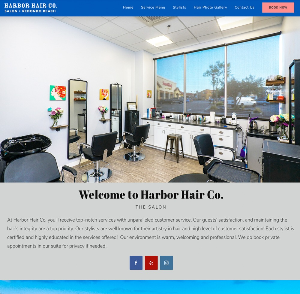 Harbor Hair Co. Website