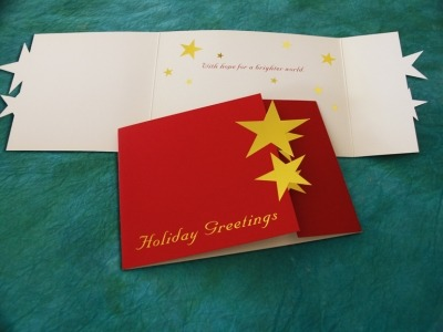 Kinecta Christmas Card with Custom Star Die Cut