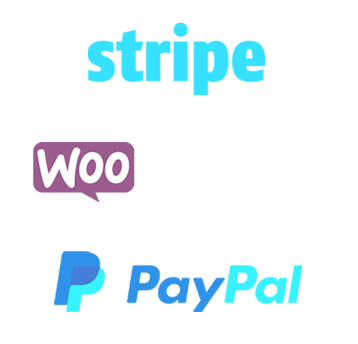 eCommerce experience with Stripe, Paypal, WooCommerce and more.
