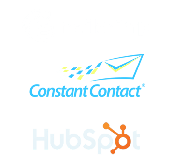We work with email programs such as Constant Contact, MailChimp and Hubspot